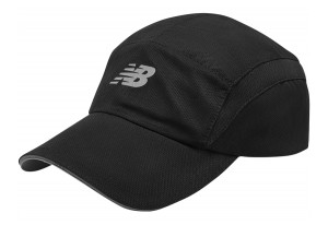 New Balance - czapeczka do biegania 5-PANEL PERFORMANCE LAH91003BK
