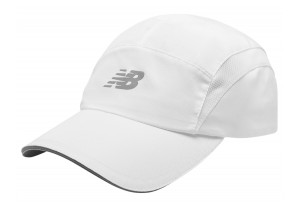 New Balance - czapeczka do biegania 5-PANEL PERFORMANCE LAH91003WT